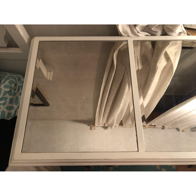 Pier 1 Hayworth Mirrored Antique White Dresser - image-3