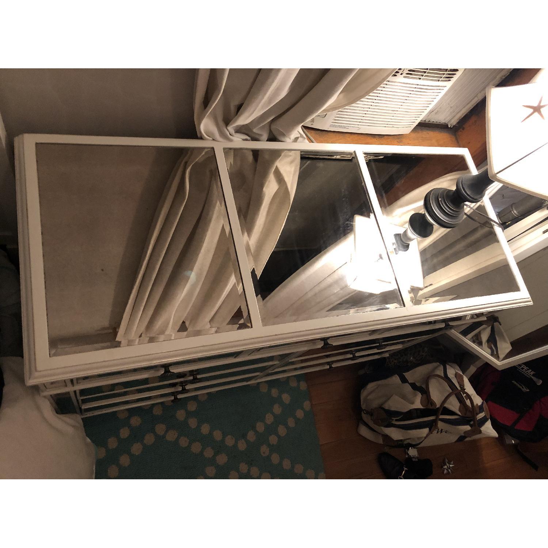 Pier 1 Hayworth Mirrored Antique White Dresser - image-8