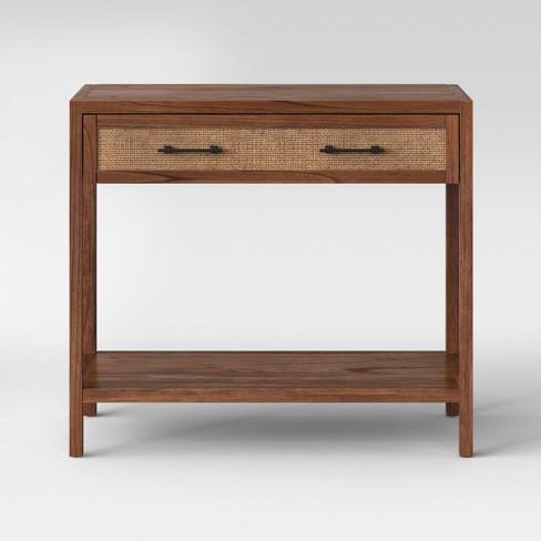 Target Warwick Wood & Rattan Console Table
