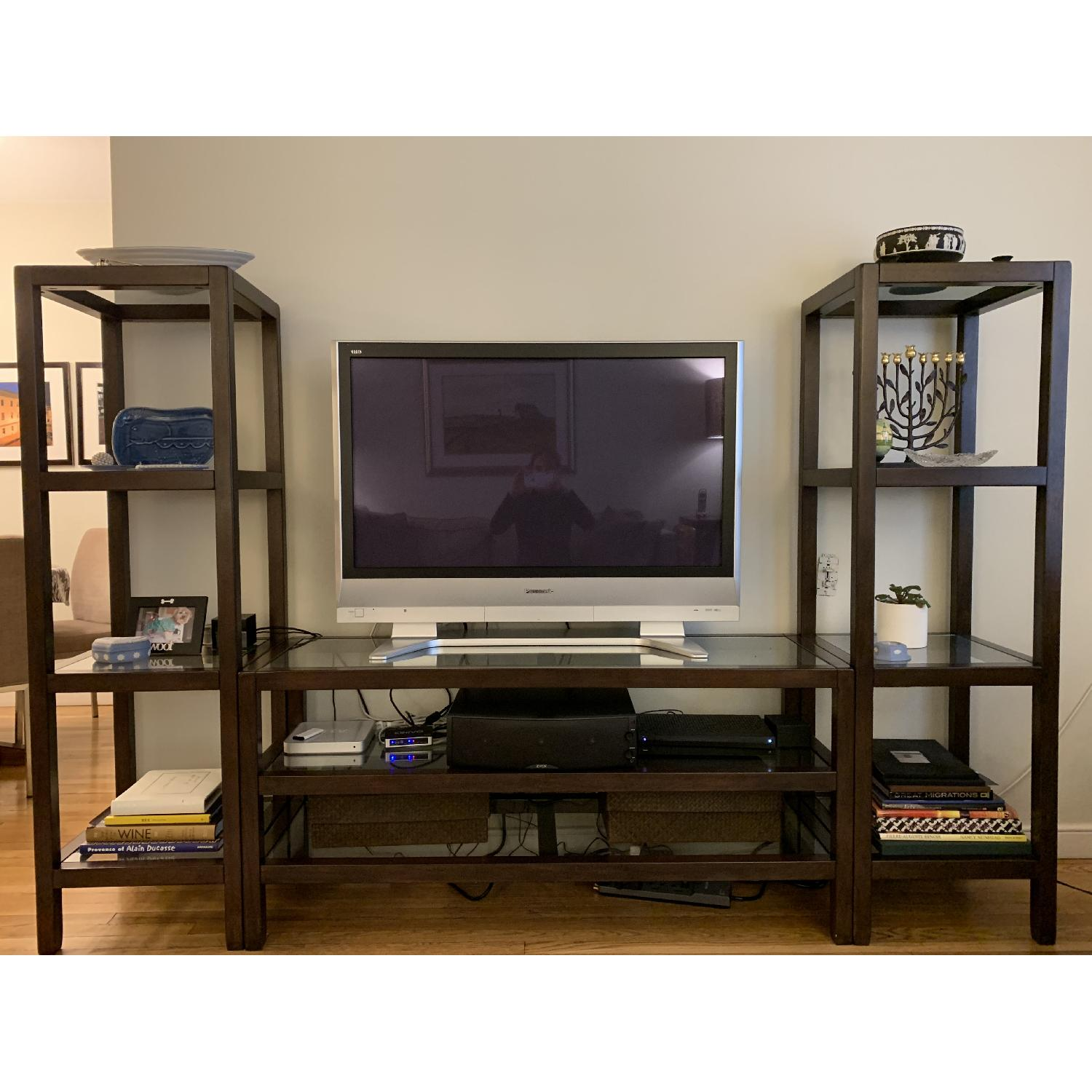 Pottery Barn Wood & Glass Media Center - image-1