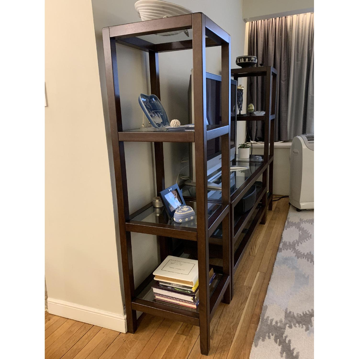 Pottery Barn Wood & Glass Media Center - image-2