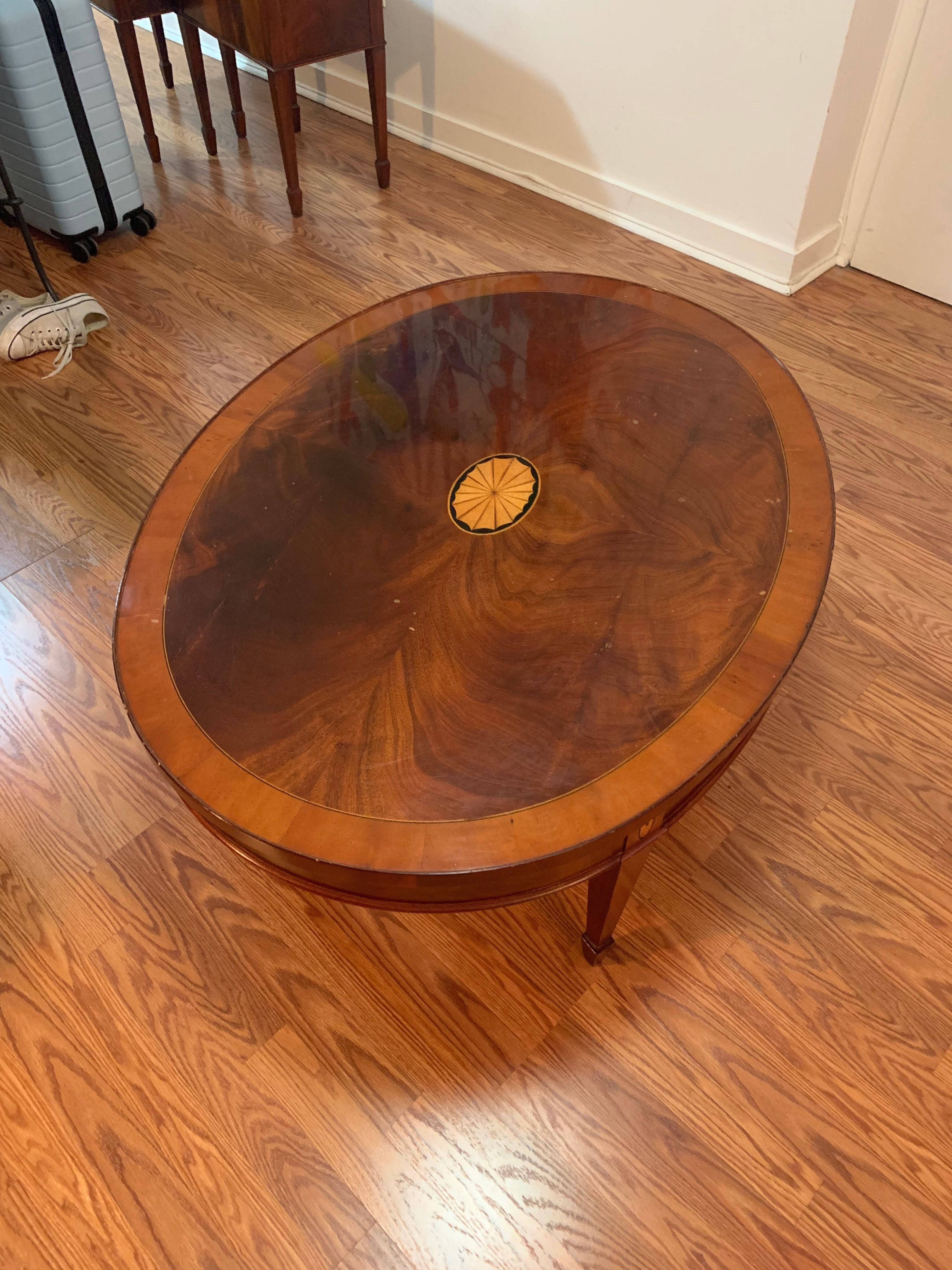 Klaussner Furniture Mahogany Coffee Table + 2 End Tables
