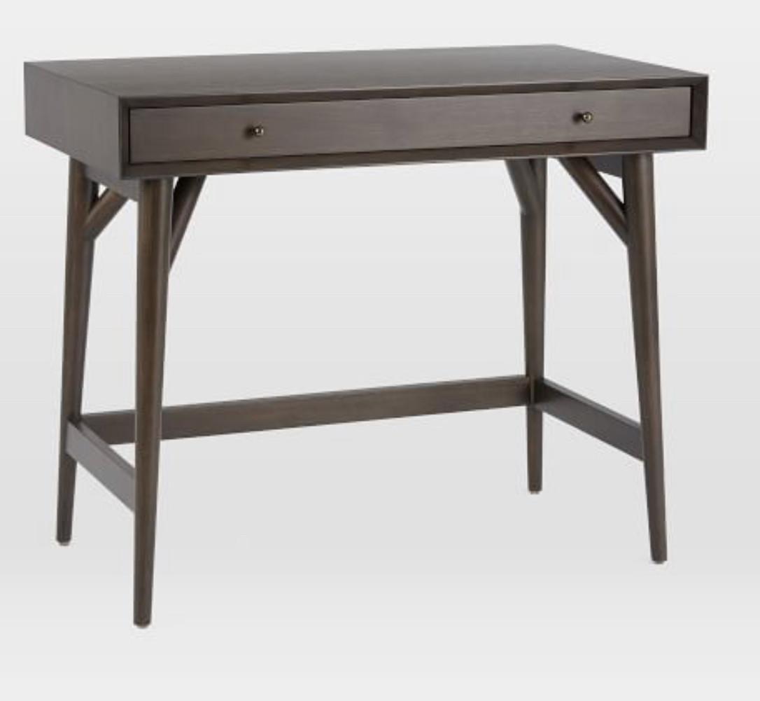 West Elm Mid-Century Mini Desk in Dark Mineral
