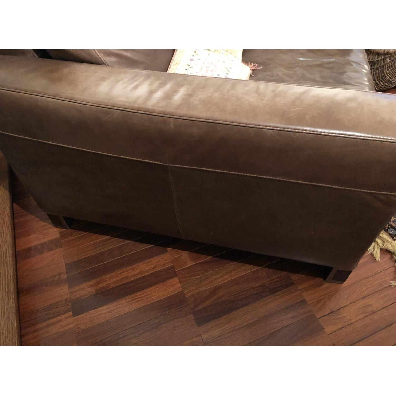 Bloomingdale's Brown Leather Chair - image-5