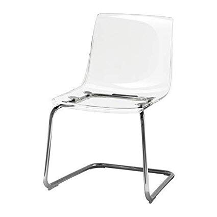 Ikea Tobias Clear Chrome-Plated Dining Chairs