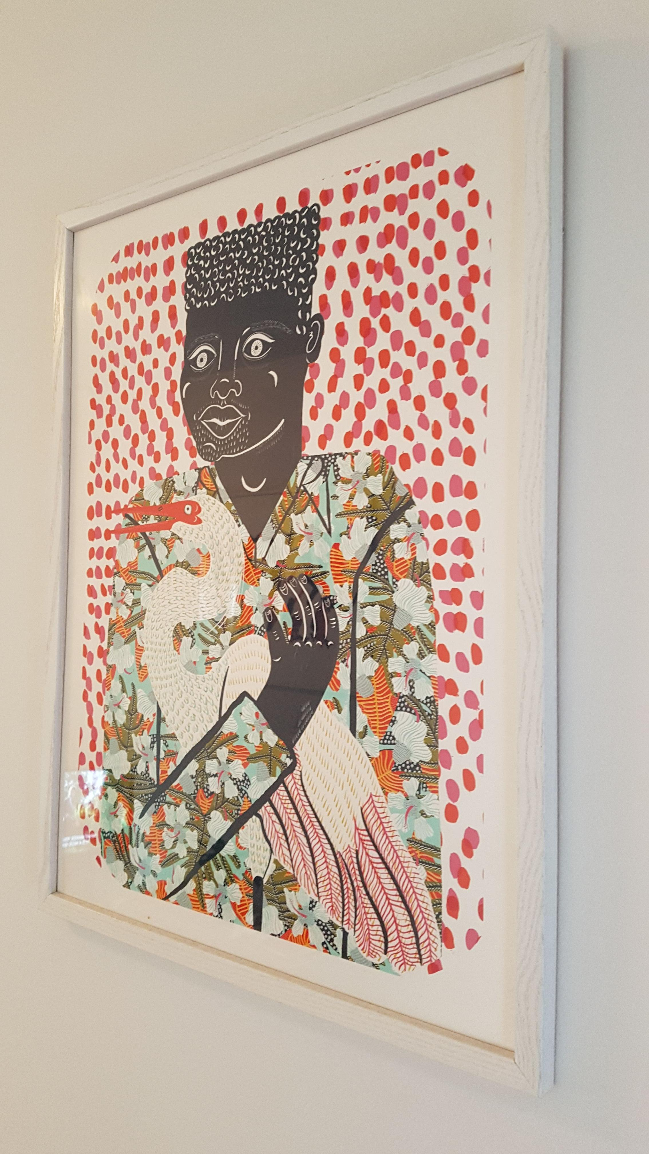 Urban Outfitters Camilla Perkins Gentleman w Egret Art Print