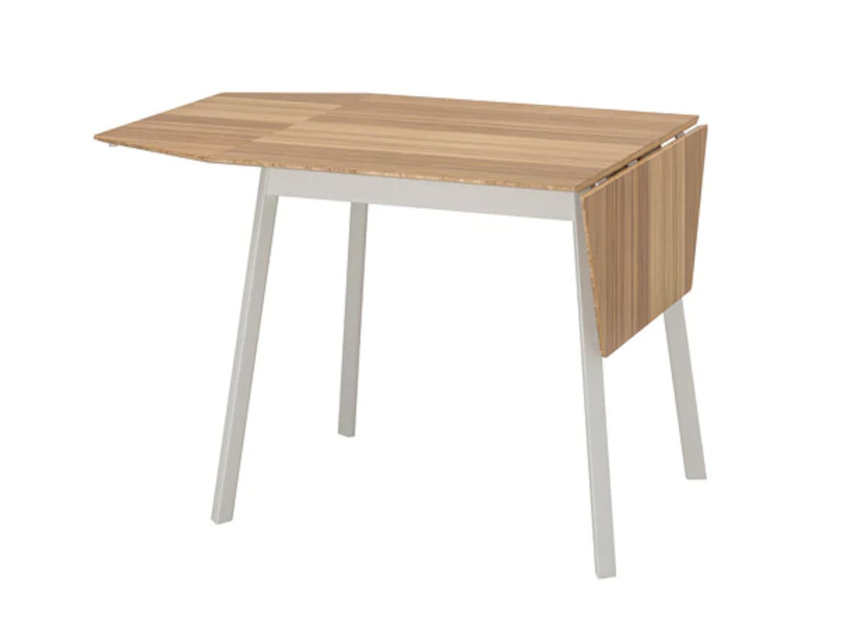 Ikea PS 2012 Bamboo & White Drop-Leaf Table