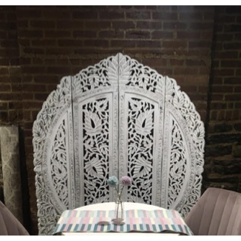 Hand Carved Wood Room Divider/Screen - image-2