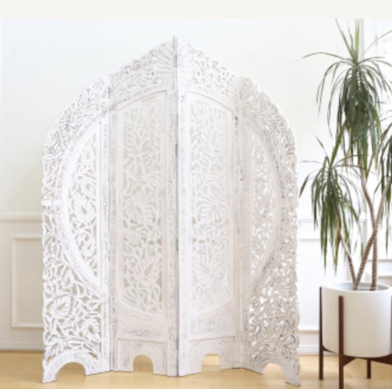 Hand Carved Wood Room Divider/Screen