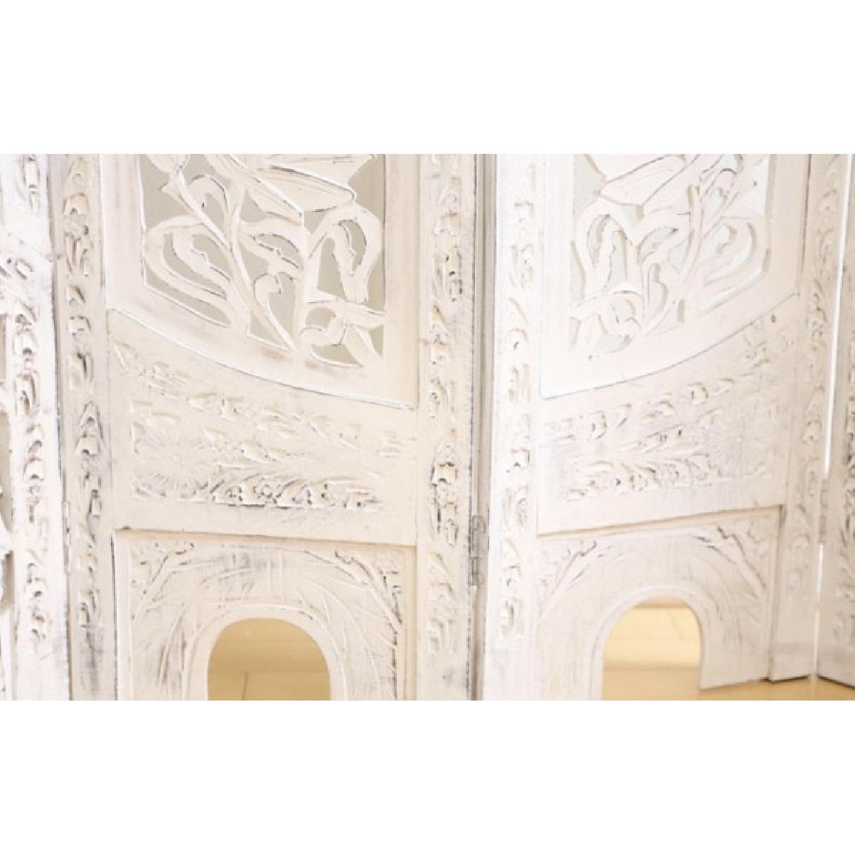 Hand Carved Wood Room Divider/Screen - image-3