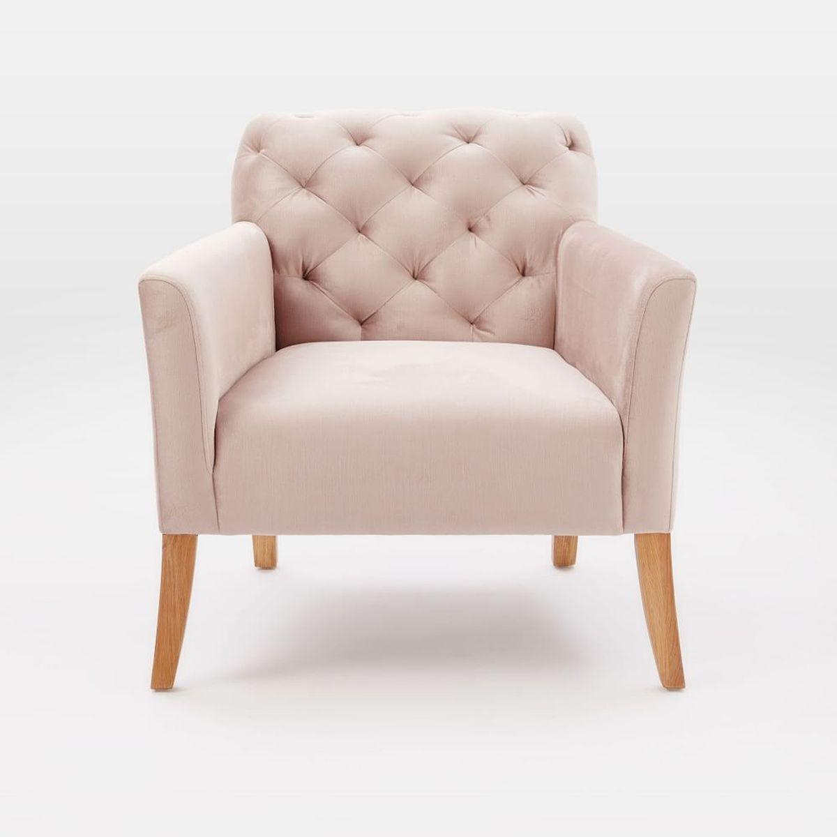 West Elm Pink Elton Armchair