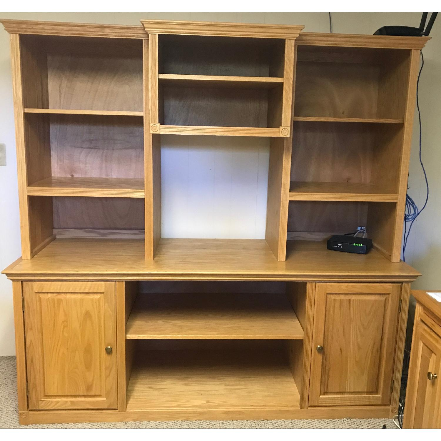 3-Piece Wood Bookcase in Oak Finish - image-1