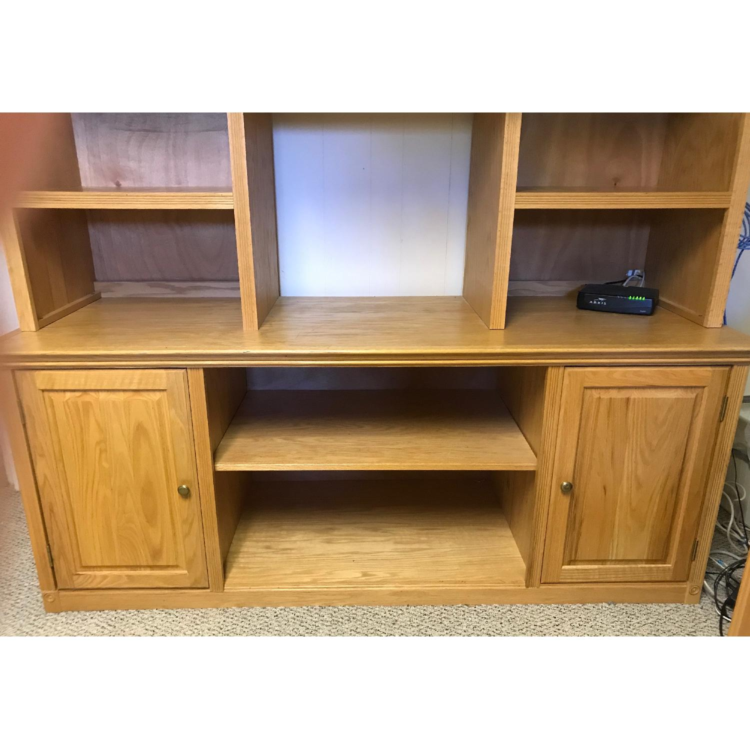 3-Piece Wood Bookcase in Oak Finish - image-3
