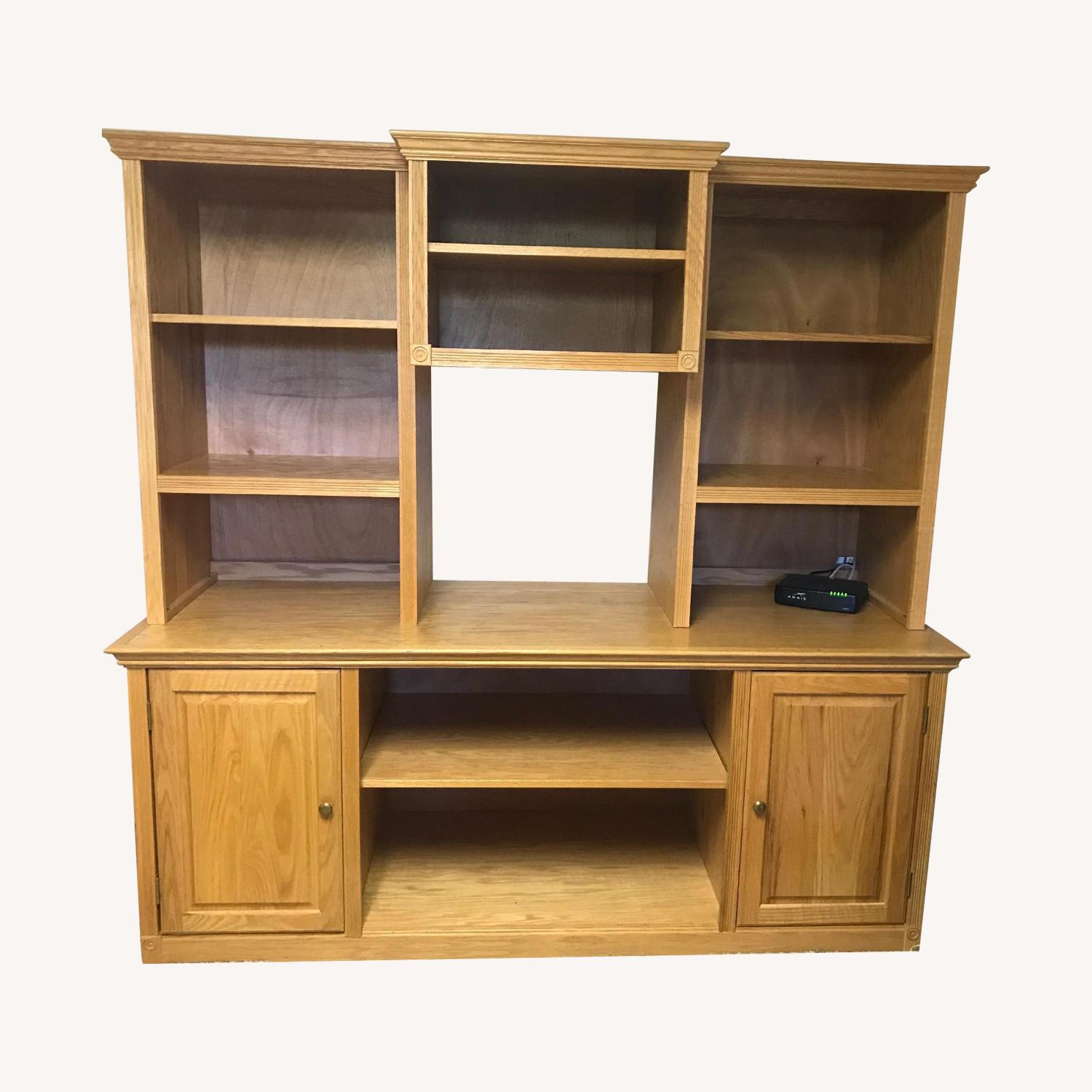 3-Piece Wood Bookcase in Oak Finish - image-0