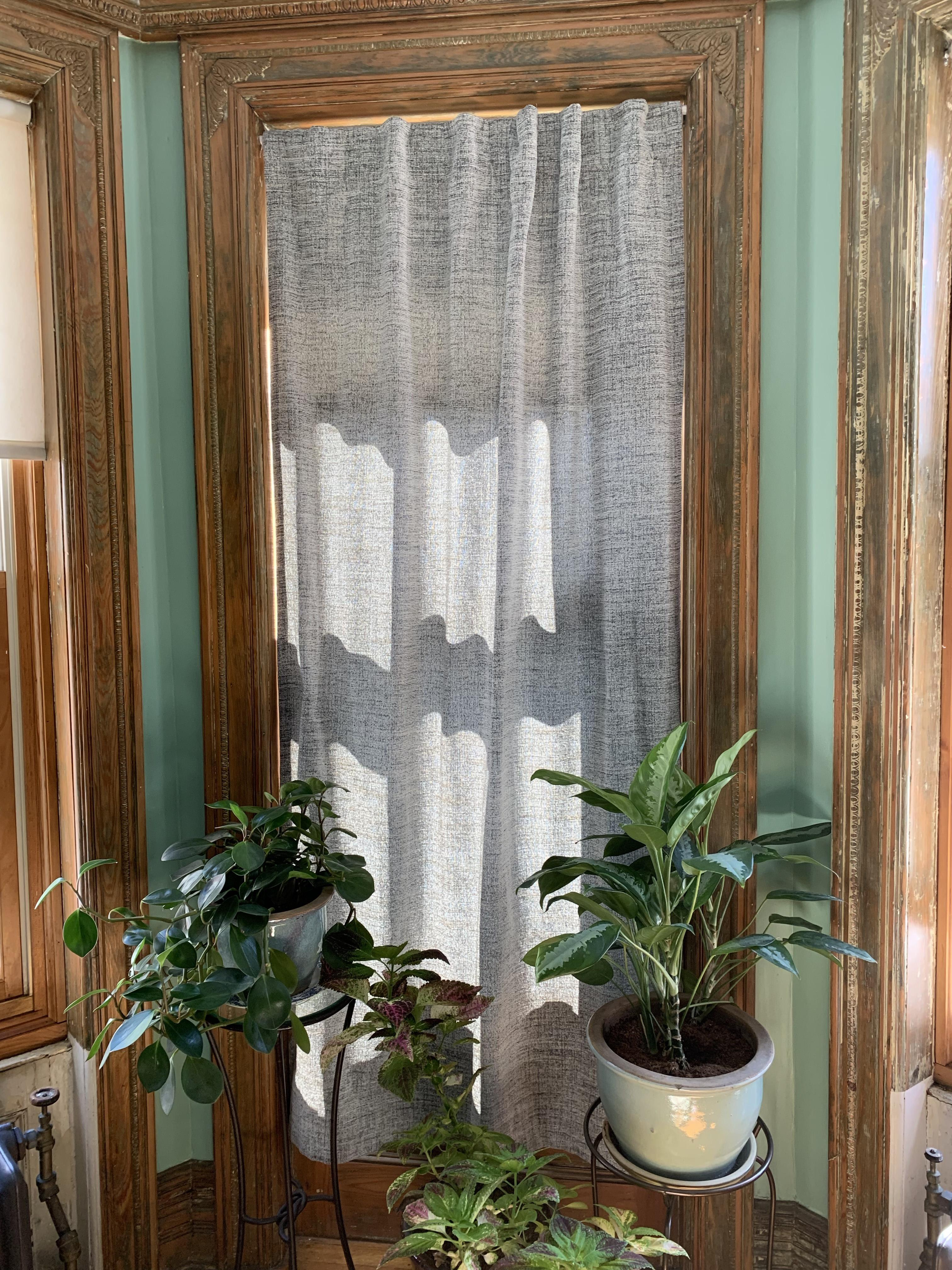 West Elm Salt & Pepper Curtains