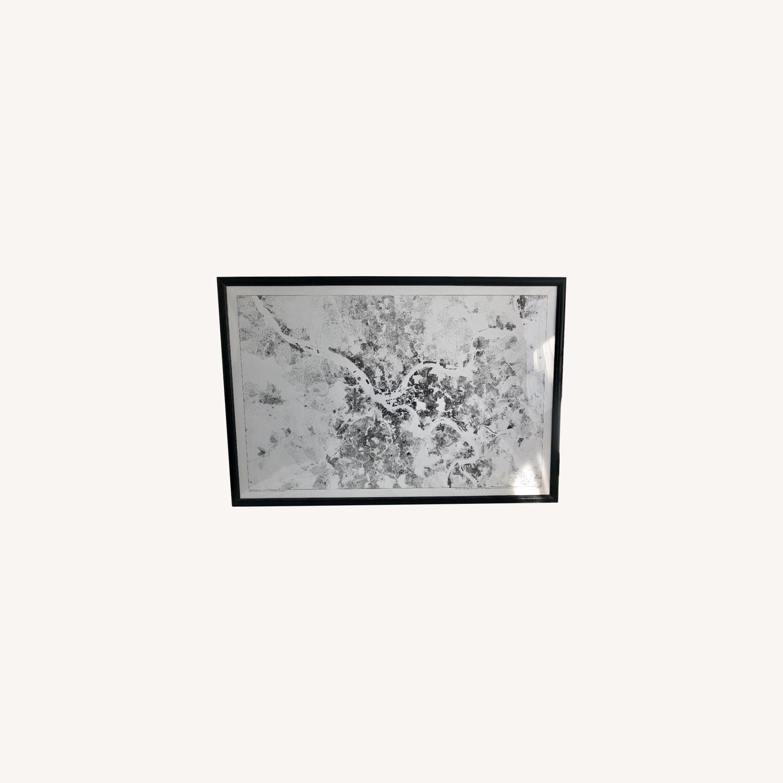 Pittsburgh Satellite Map Painting - image-0