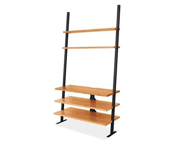 Room & Board Gallery Leaning Media Shelves