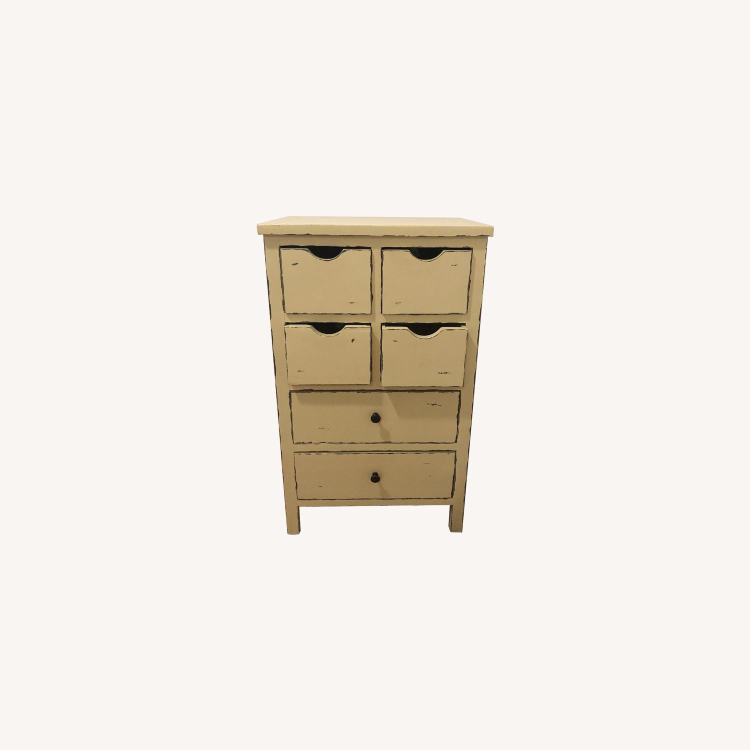 Distressed Yellow Small Dresser - image-0