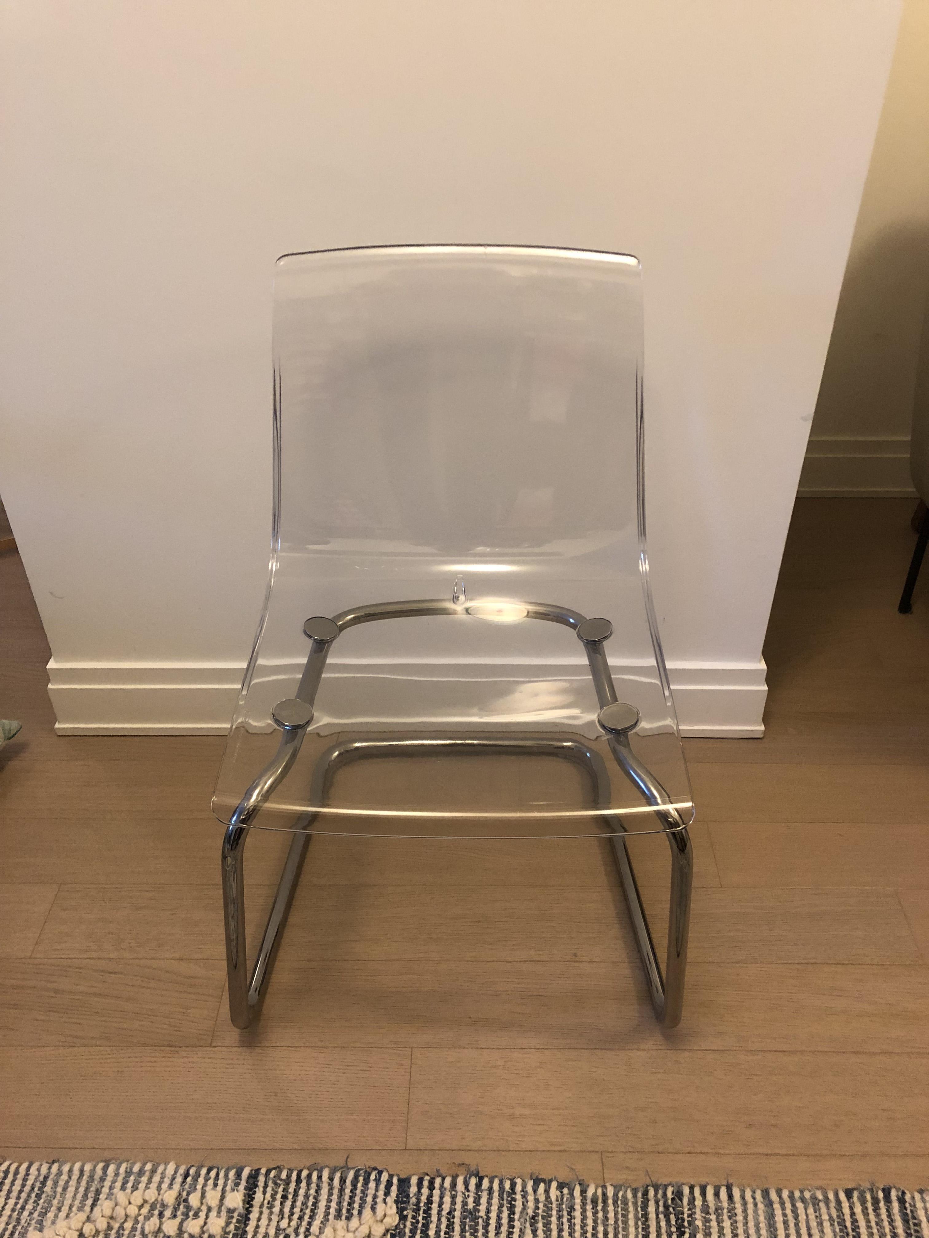 Acrylic & Metal Dining Chairs