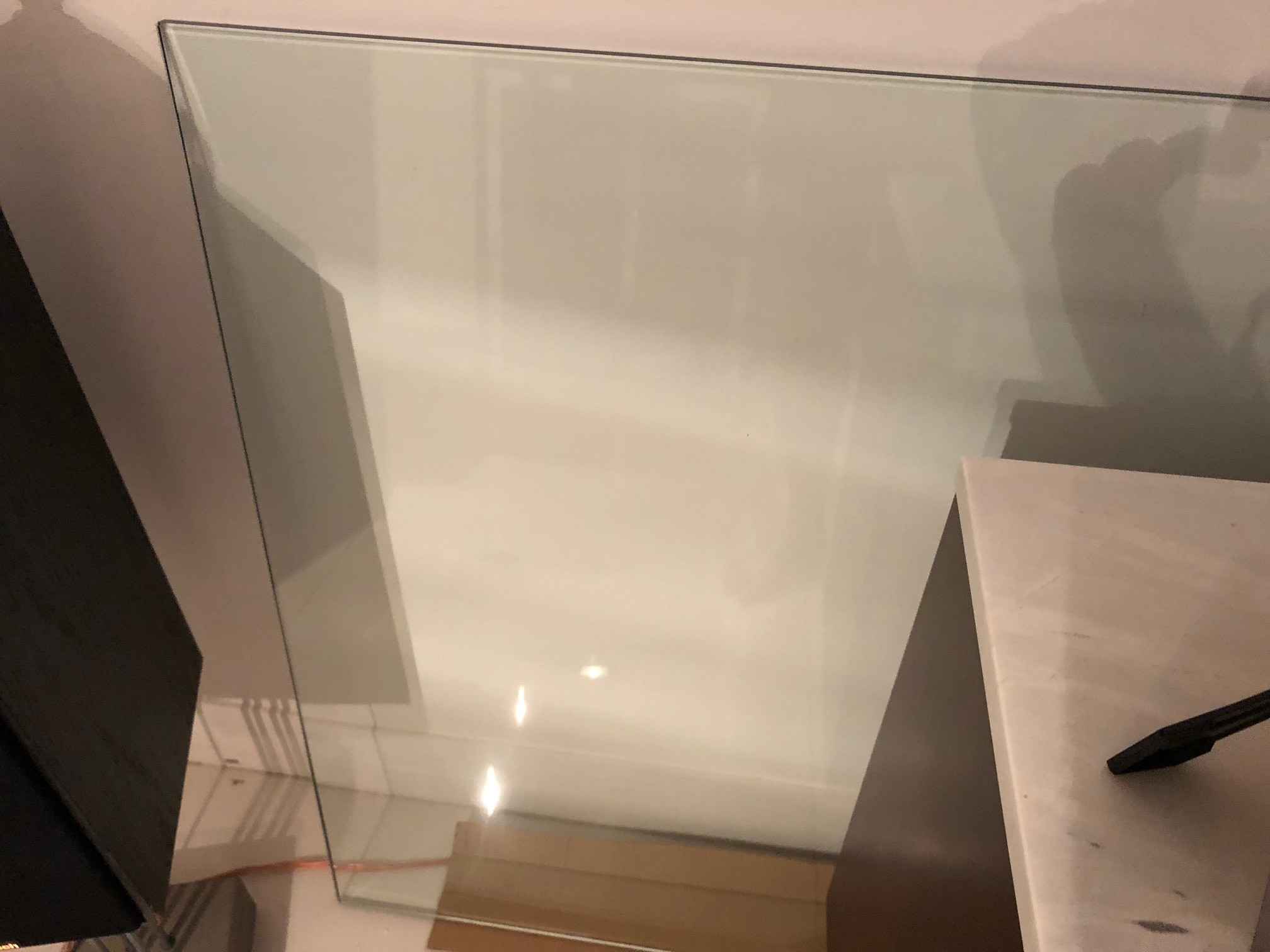 CB2 Glass Table Top