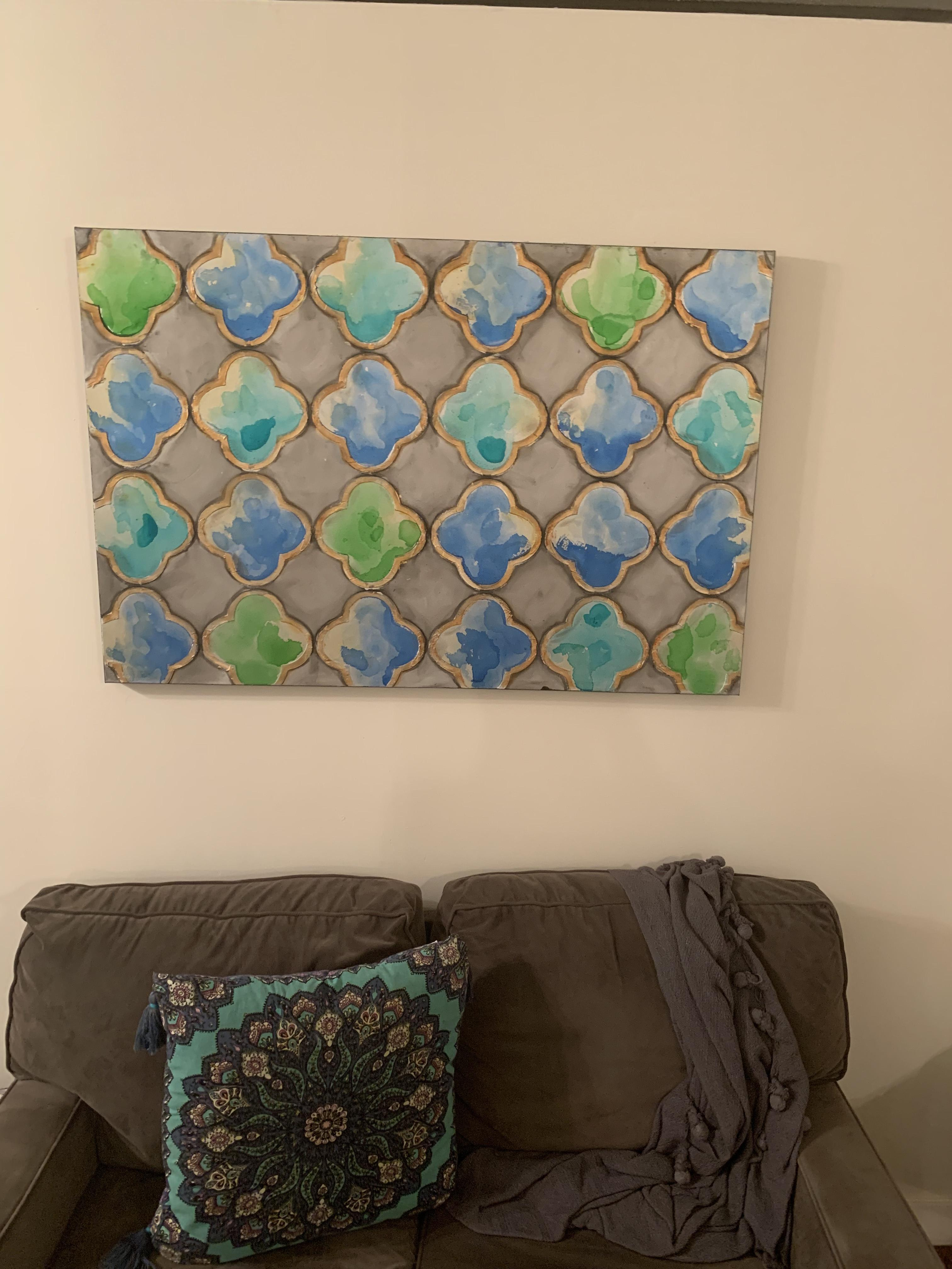 Blue/Green Painting