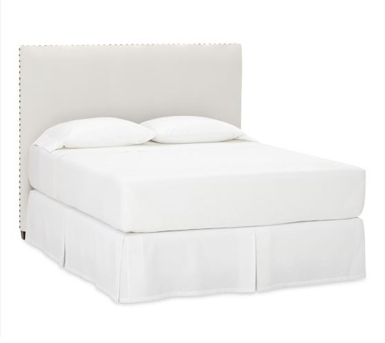 Pottery Barn Queen White Raleigh Square Headboard