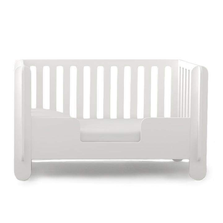 Oeuf Elephant Crib w/ Toddler Conversion Kit in White Colo