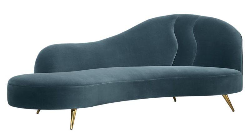 CB2 Peacock Chaise Lounge/Sofa