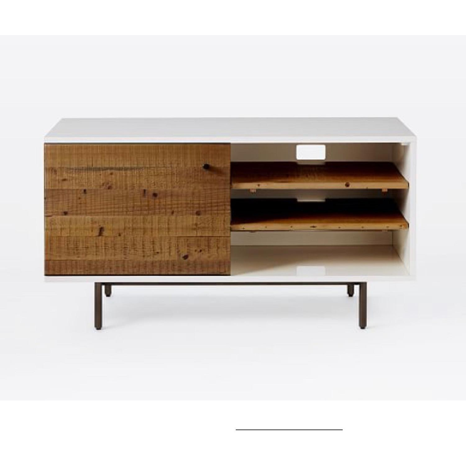 West Elm Reclaimed Wood & Lacquer Media Console - image-2