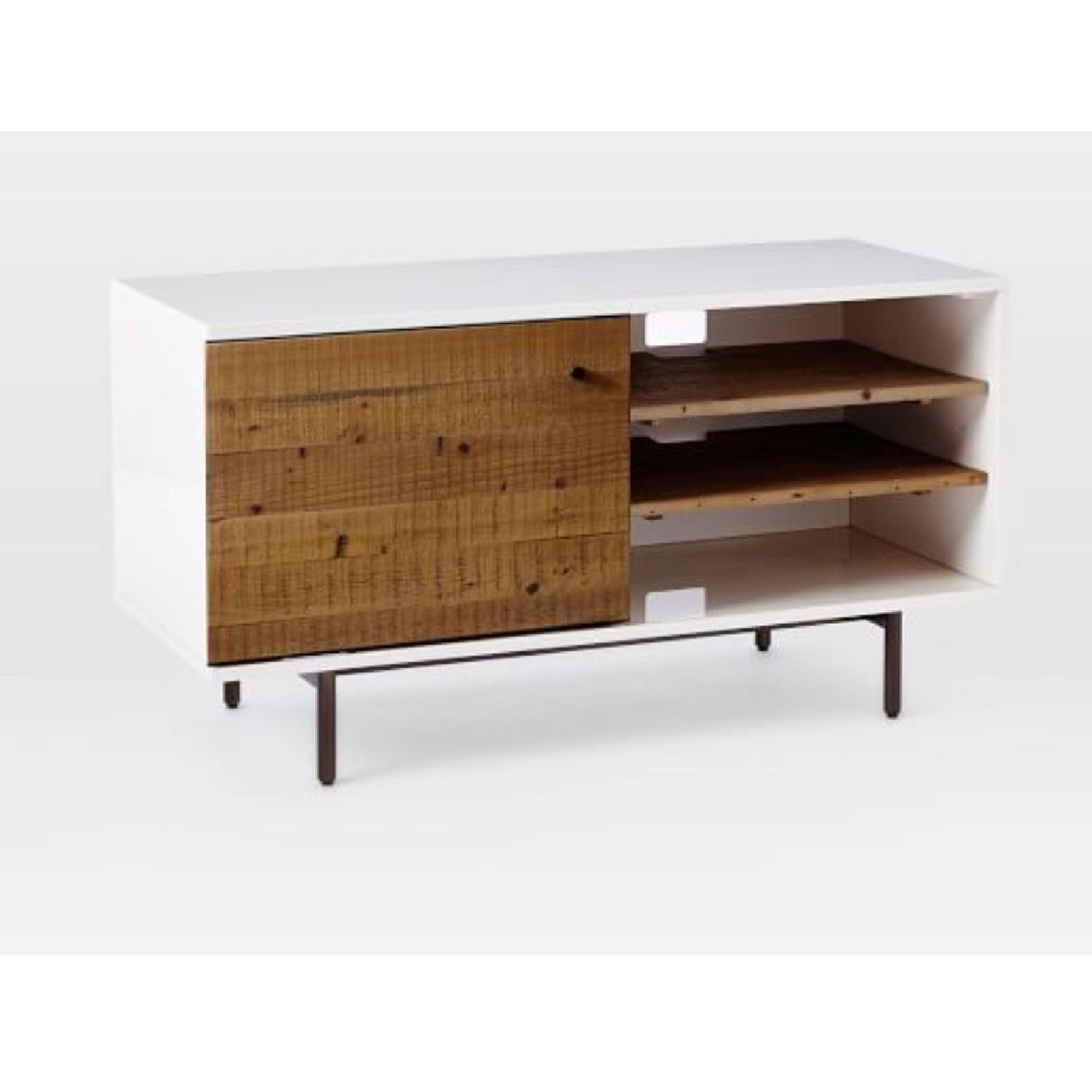 West Elm Reclaimed Wood & Lacquer Media Console - image-1