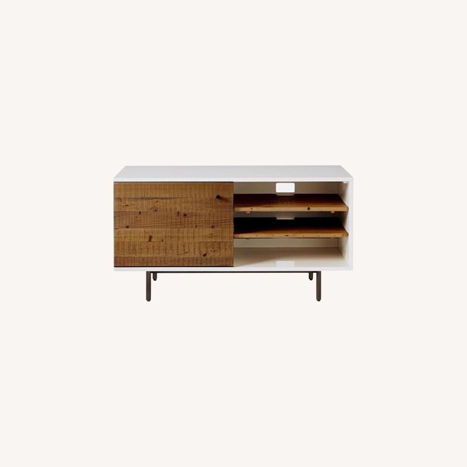 West Elm Reclaimed Wood & Lacquer Media Console - image-0