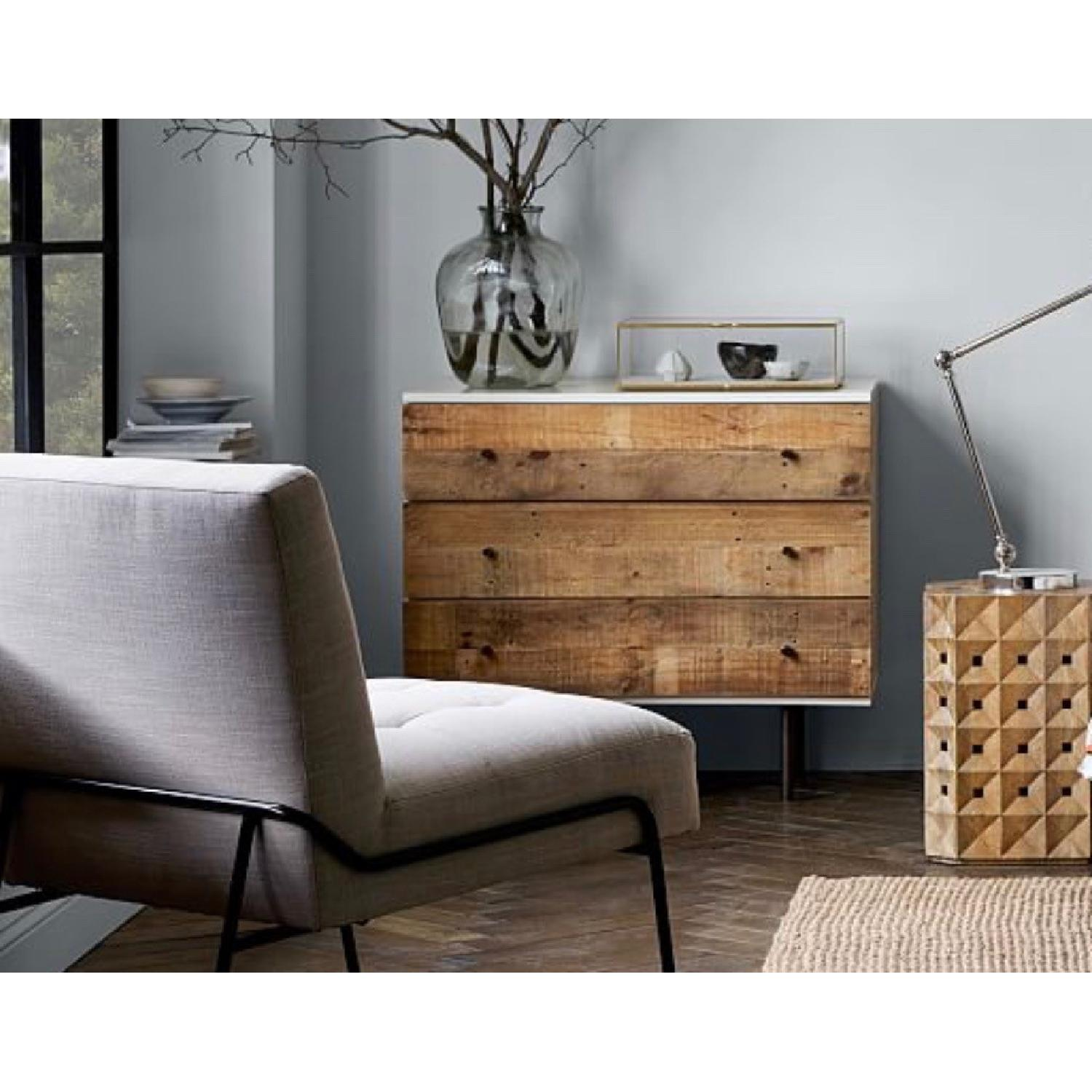 West Elm Reclaimed Wood Lacquer 3 Drawer - image-2