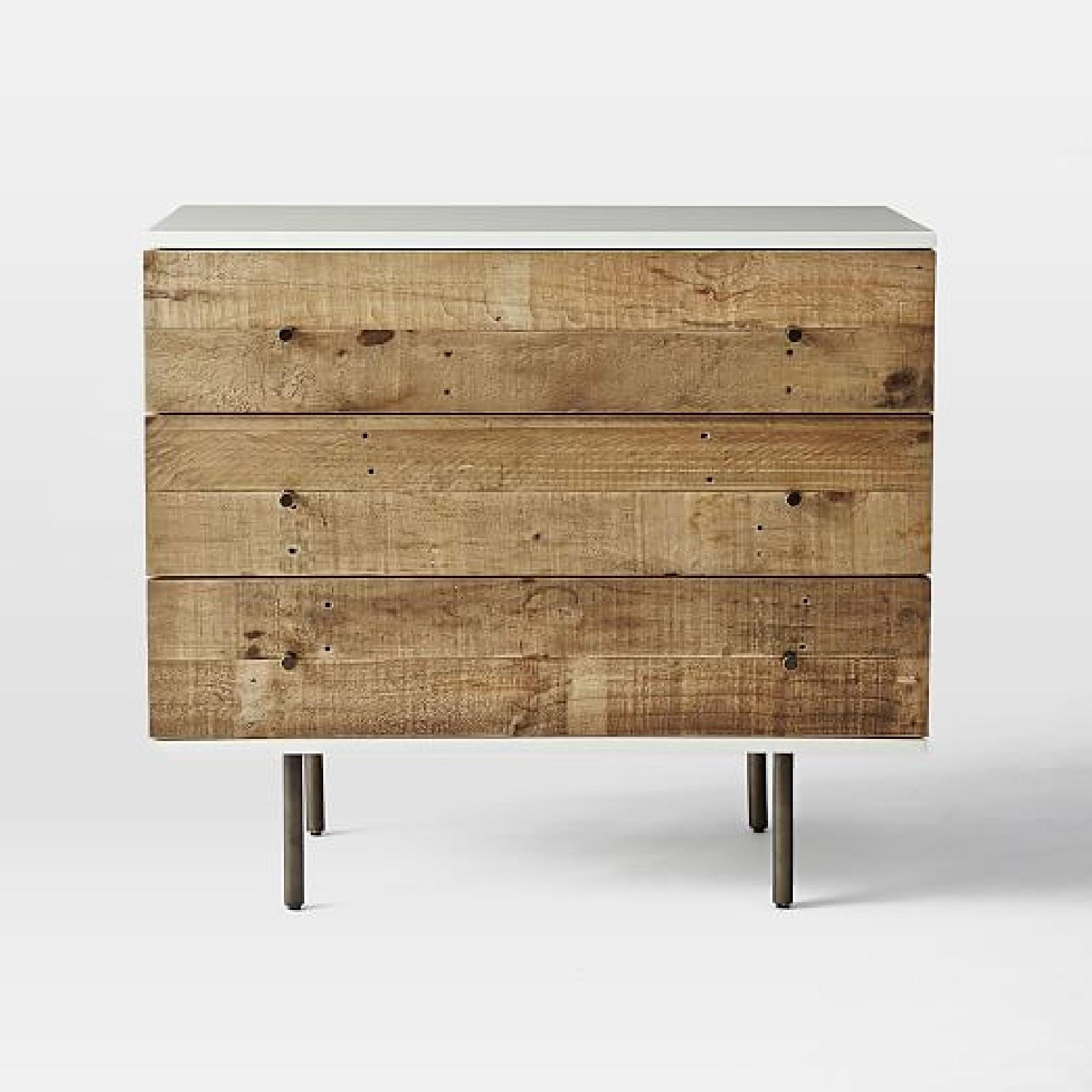 West Elm Reclaimed Wood Lacquer 3 Drawer - image-3