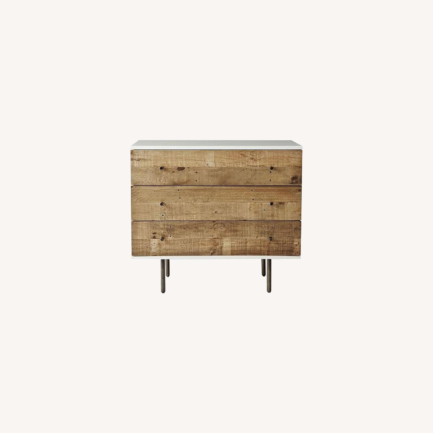 West Elm Reclaimed Wood Lacquer 3 Drawer - image-0
