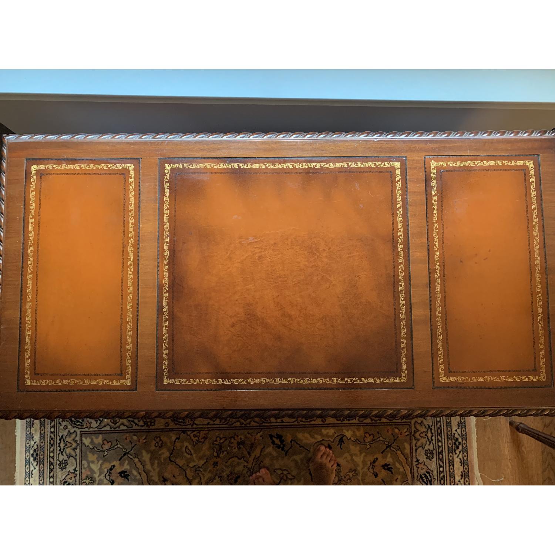 Leather Top Mahogany Desk - image-1