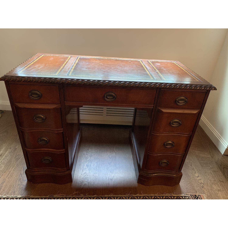 Leather Top Mahogany Desk - image-2