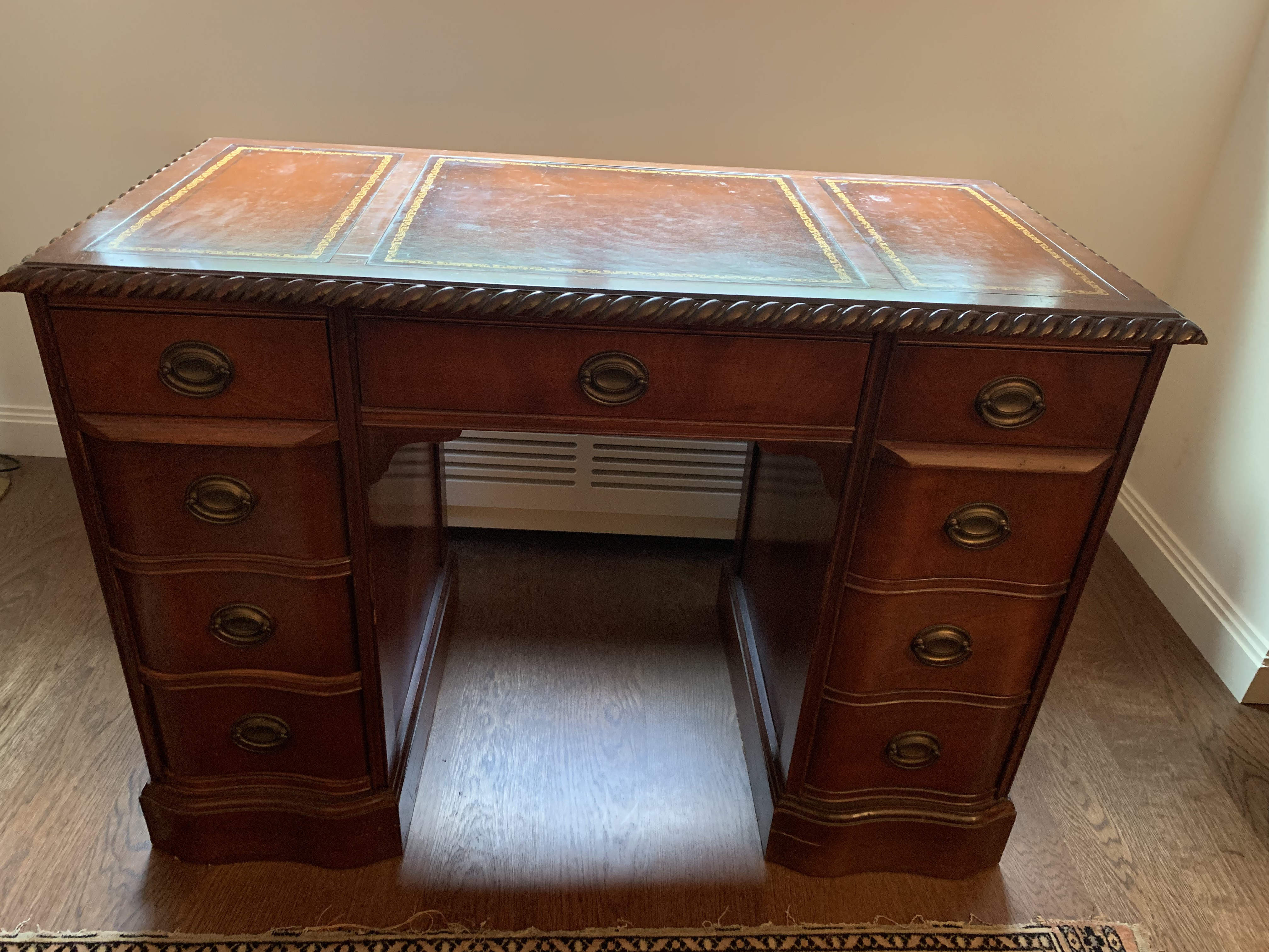Leather Top Mahogany Desk