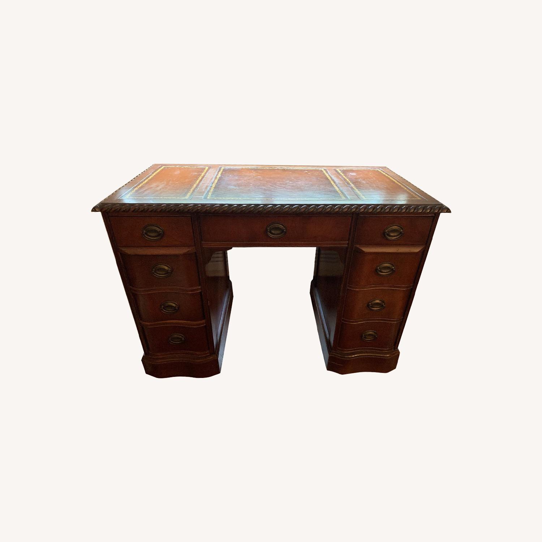 Leather Top Mahogany Desk - image-0