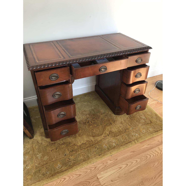 Leather Top Mahogany Desk - image-5