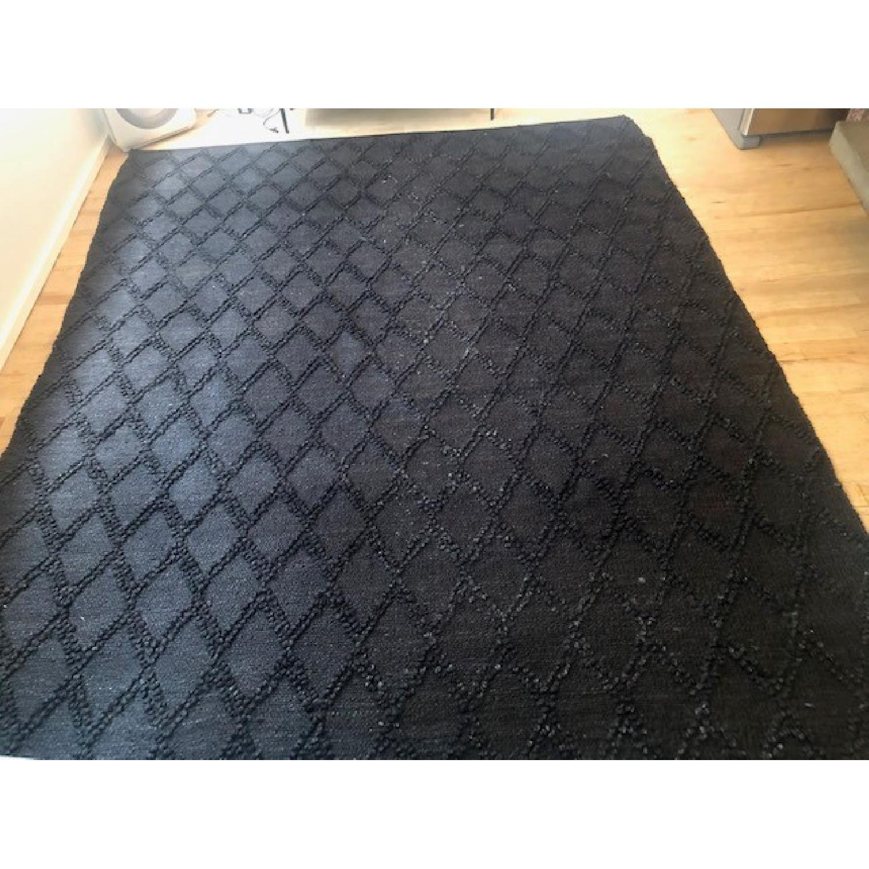 CB2 Carat Black Jute Rug - image-1