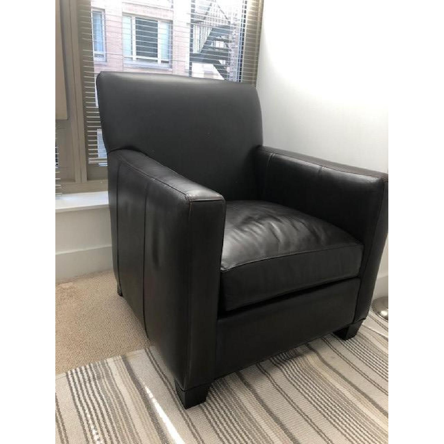 Crate & Barrel Leather Club Chair - image-5