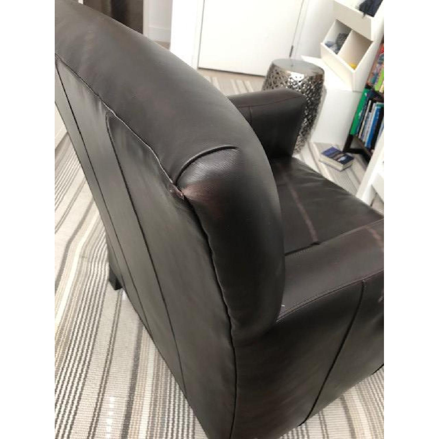 Crate & Barrel Leather Club Chair - image-6