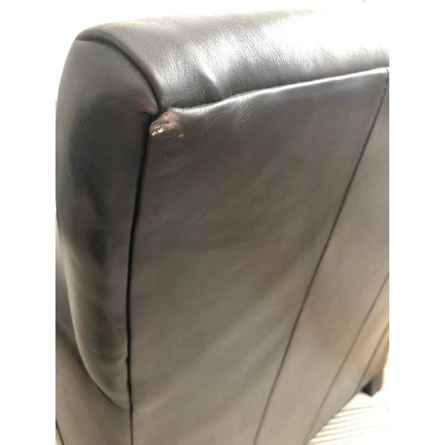 Crate & Barrel Leather Club Chair - image-7