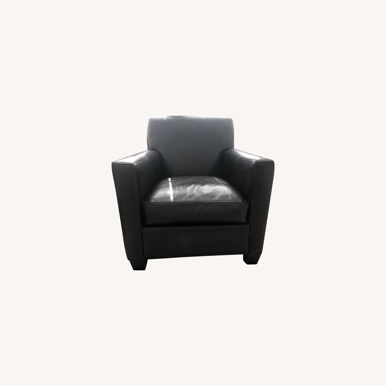Crate & Barrel Leather Club Chair - image-8