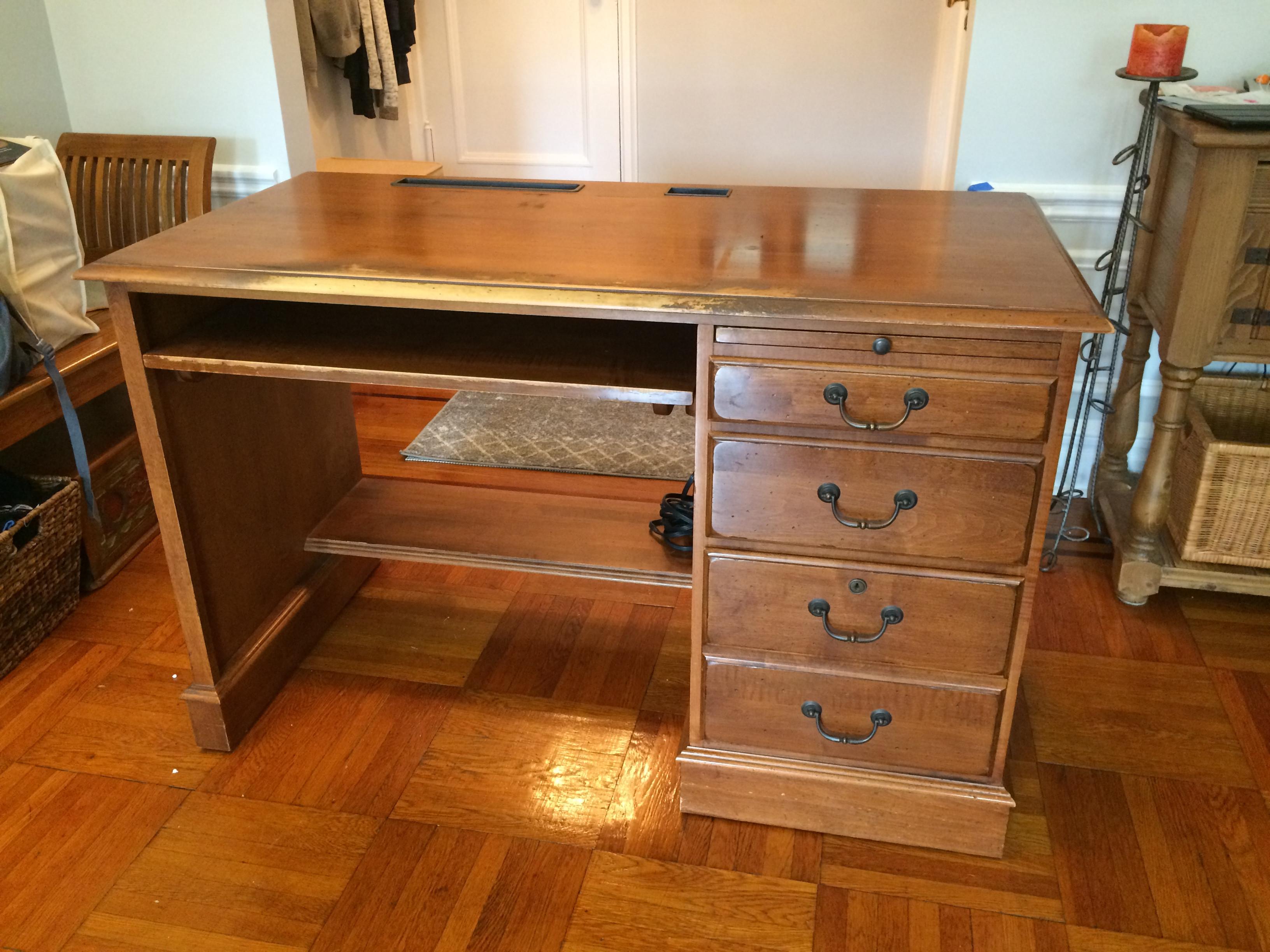 Ethan Allen Dark Wood Desk