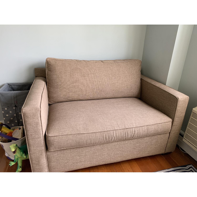 Crate & Barrel Davis Twin Sleeper Sofa - image-1