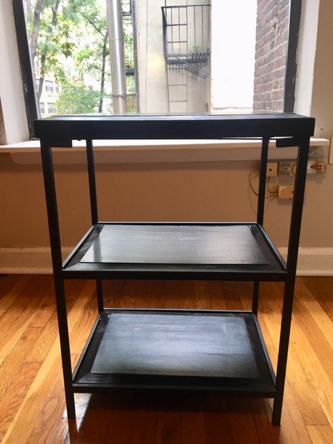 Dark Wood Etagere Side Table