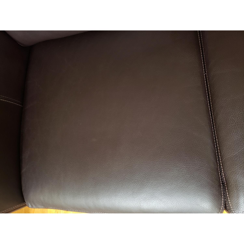 Macy's Brown Italian Leather Loveseat - image-6