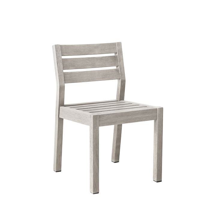 West Elm Portside Dining Chair in Weathered Gray
