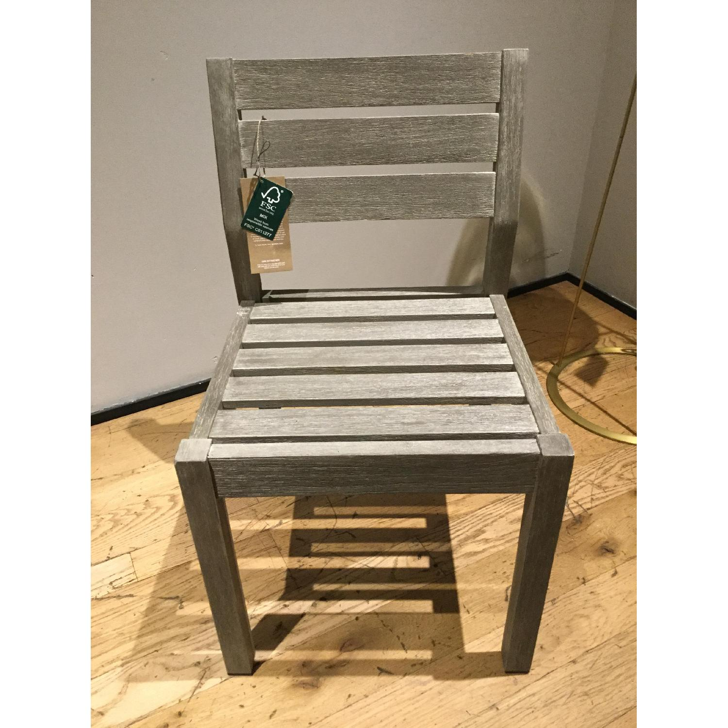 West Elm Portside Dining Chair in Weathered Gray - image-1